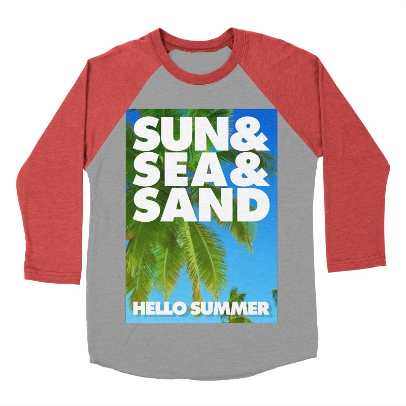 Hello Summer Women's Baseball Triblend Longsleeve T-Shirt by ALMA VISUAL's Artist Shop