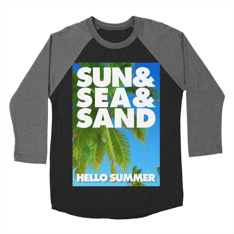 Hello Summer Men's Baseball Triblend Longsleeve T-Shirt by ALMA VISUAL's Artist Shop