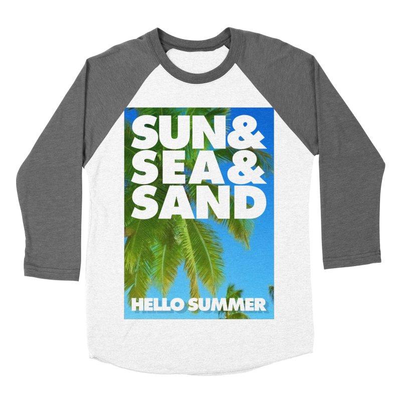 Hello Summer Men's Baseball Triblend T-Shirt by ALMA VISUAL's Artist Shop