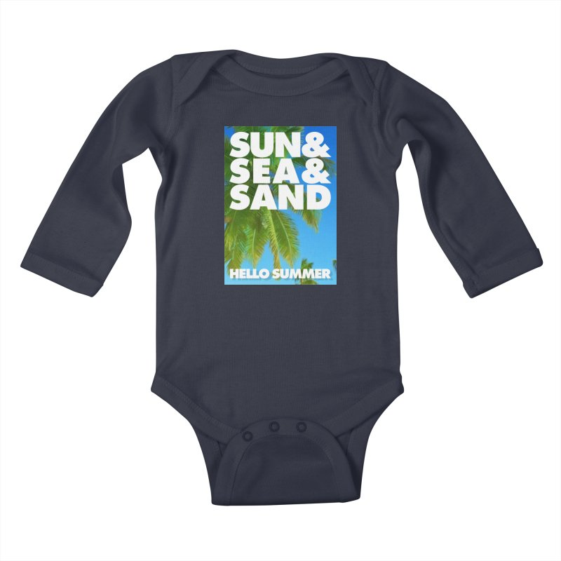 Hello Summer Kids Baby Longsleeve Bodysuit by ALMA VISUAL's Artist Shop