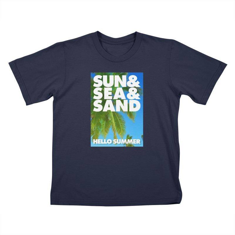 Hello Summer Kids Toddler T-Shirt by ALMA VISUAL's Artist Shop
