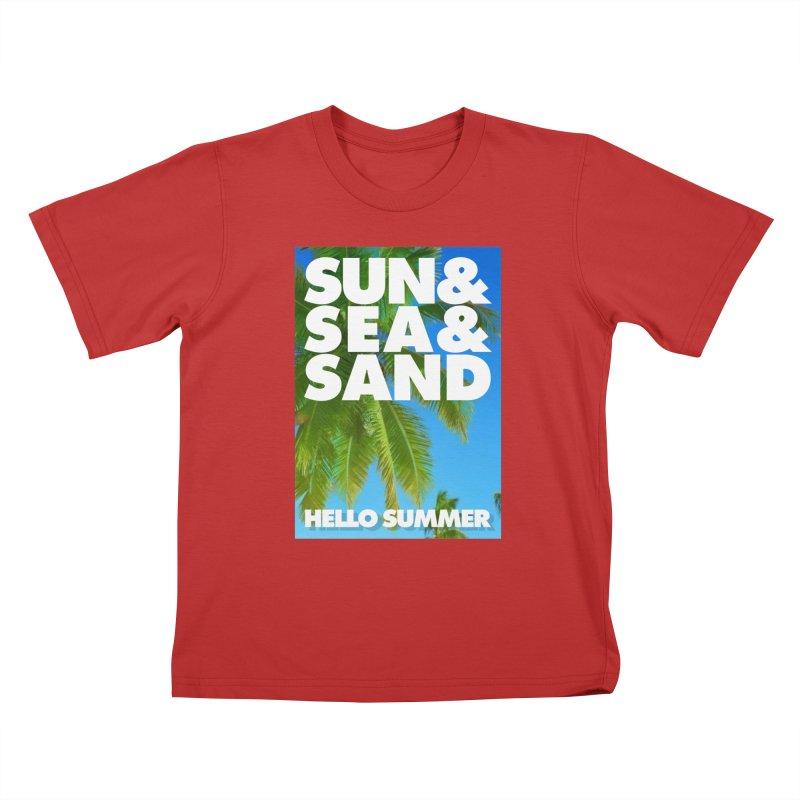 Hello Summer Kids T-Shirt by ALMA VISUAL's Artist Shop