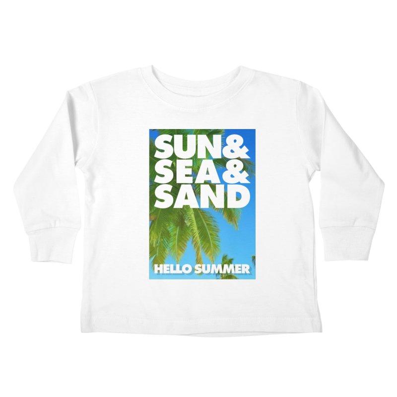 Hello Summer Kids Toddler Longsleeve T-Shirt by ALMA VISUAL's Artist Shop