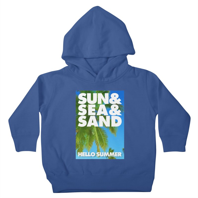 Hello Summer Kids Toddler Pullover Hoody by ALMA VISUAL's Artist Shop
