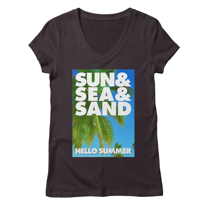Hello Summer Women's V-Neck by ALMA VISUAL's Artist Shop