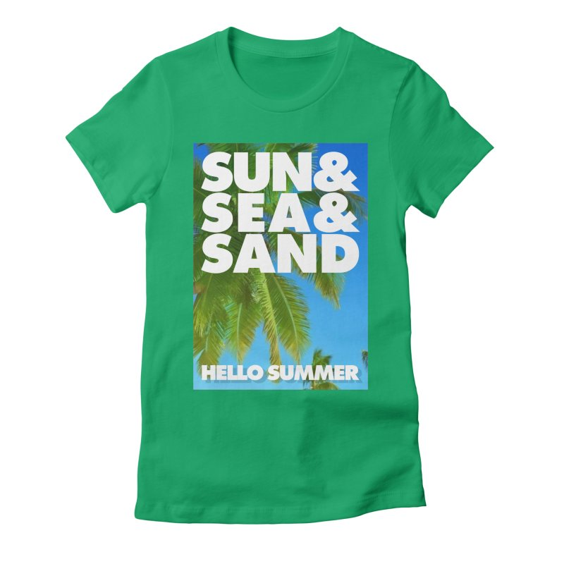 Hello Summer Women's Fitted T-Shirt by ALMA VISUAL's Artist Shop