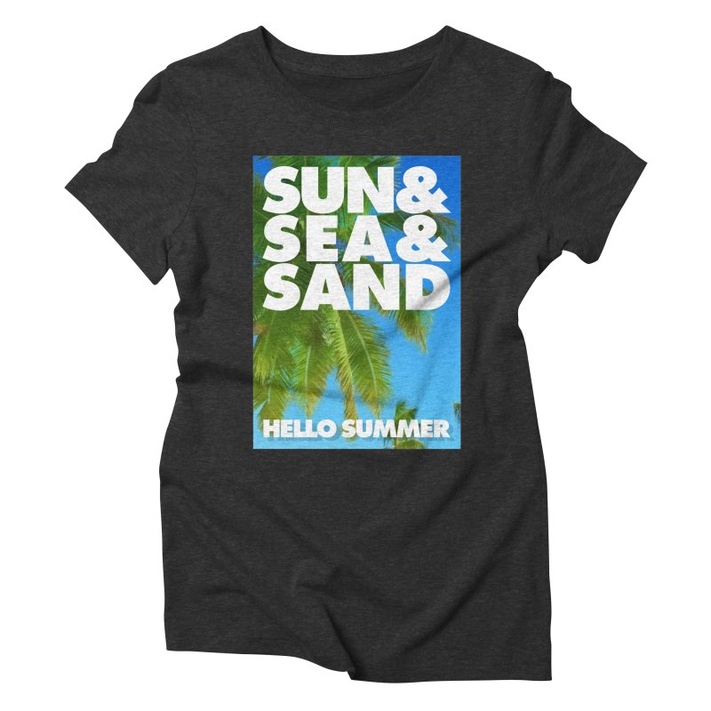 Hello Summer Women's Triblend T-Shirt by ALMA VISUAL's Artist Shop