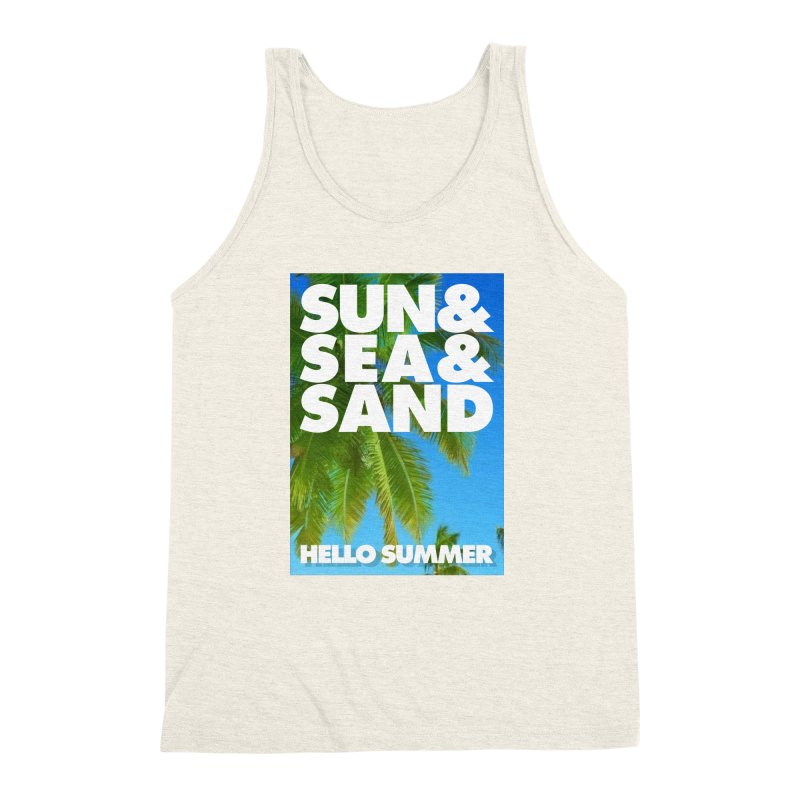 Hello Summer Men's Triblend Tank by ALMA VISUAL's Artist Shop