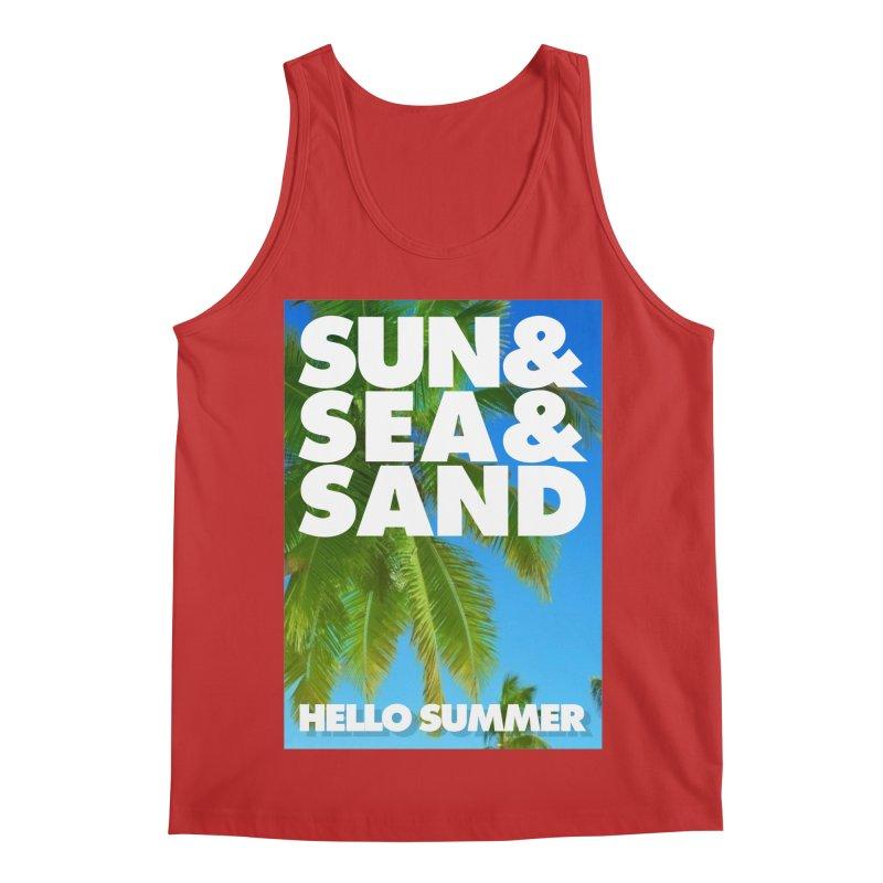Hello Summer Men's Regular Tank by ALMA VISUAL's Artist Shop