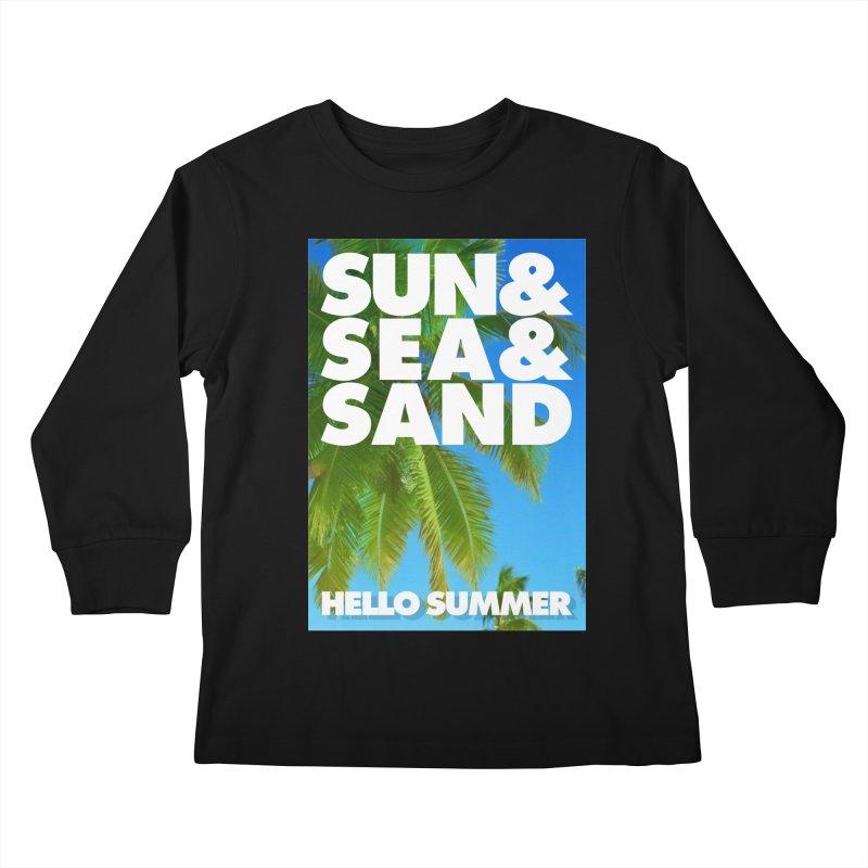 Hello Summer Kids Longsleeve T-Shirt by ALMA VISUAL's Artist Shop