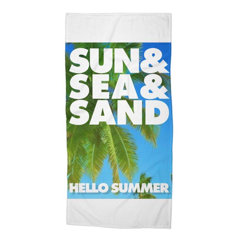Hello Summer Accessories Beach Towel by ALMA VISUAL's Artist Shop