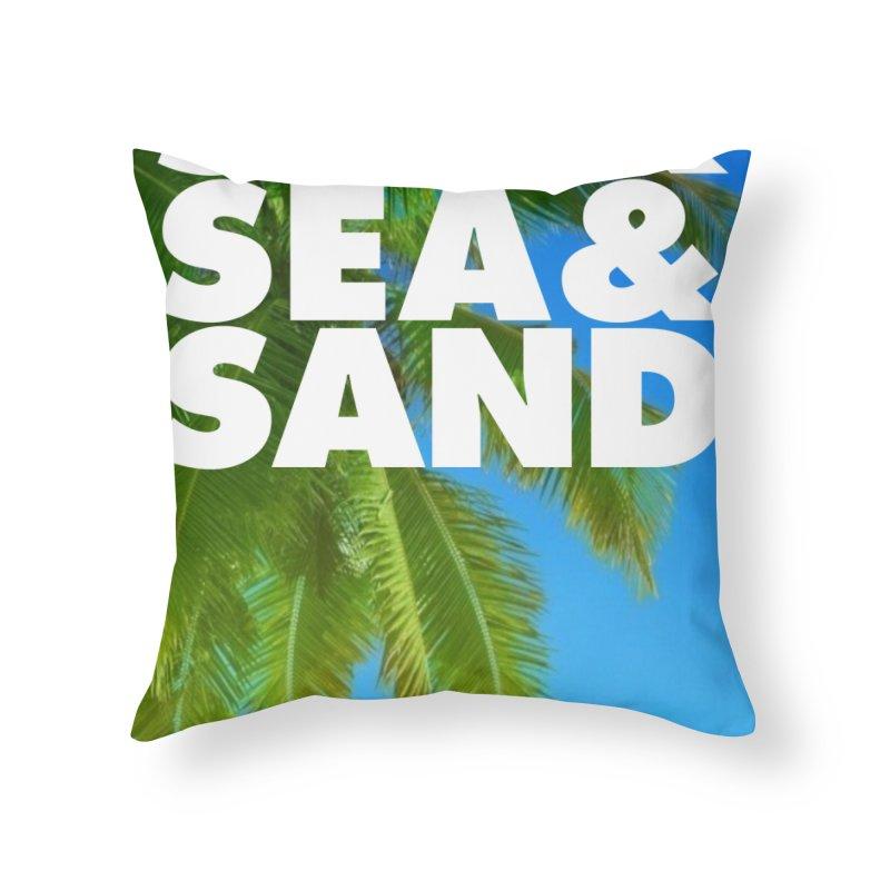 Hello Summer Home Throw Pillow by ALMA VISUAL's Artist Shop
