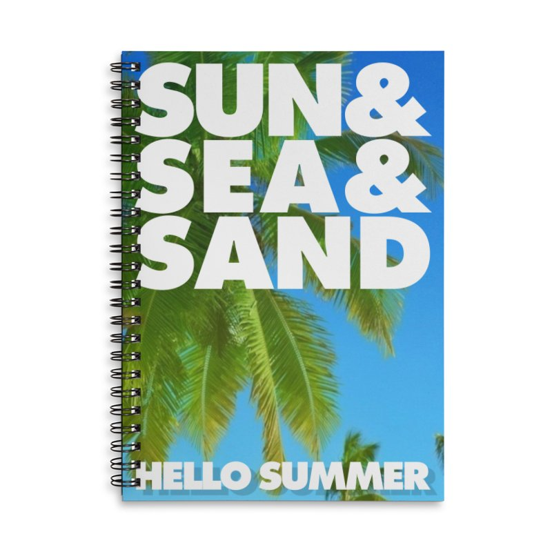 Hello Summer Accessories Lined Spiral Notebook by ALMA VISUAL's Artist Shop