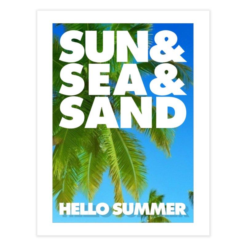 Hello Summer Home Fine Art Print by ALMA VISUAL's Artist Shop