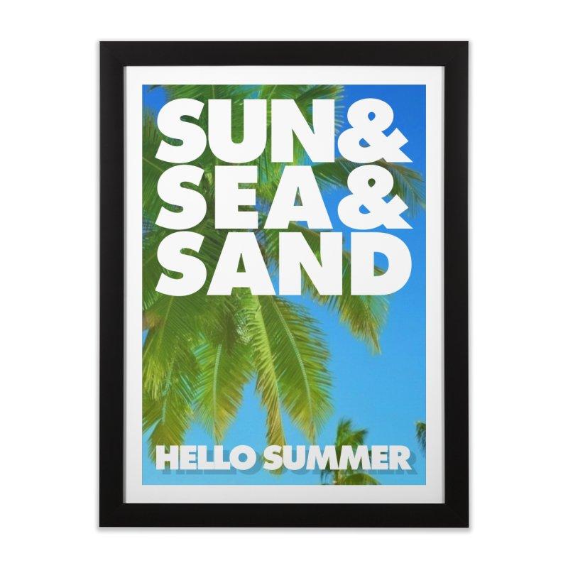 Hello Summer Home Framed Fine Art Print by ALMA VISUAL's Artist Shop