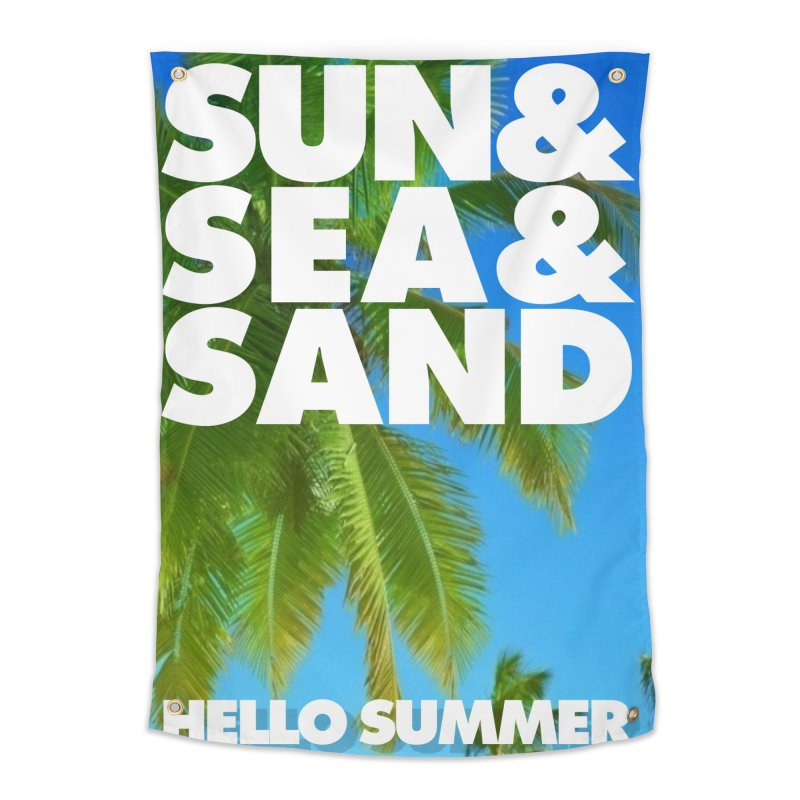 Hello Summer Home Tapestry by ALMA VISUAL's Artist Shop
