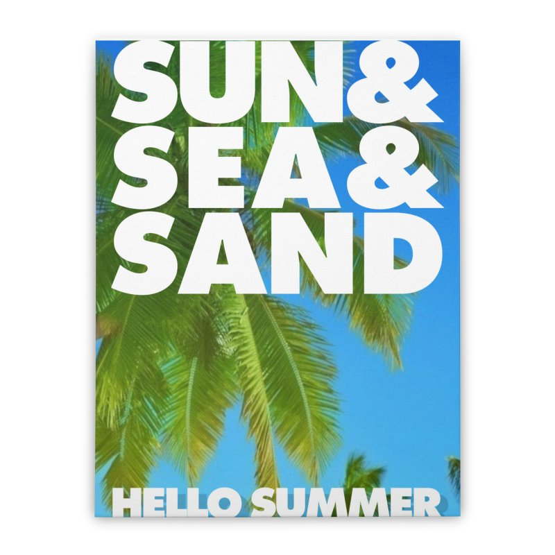 Hello Summer Home Stretched Canvas by ALMA VISUAL's Artist Shop