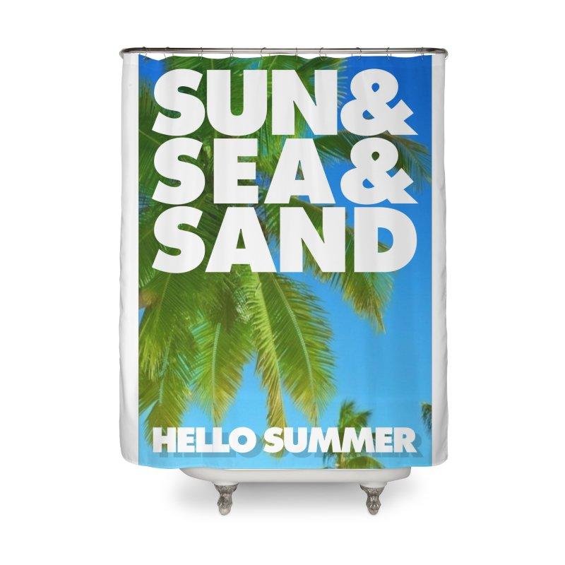 Hello Summer Home Shower Curtain by ALMA VISUAL's Artist Shop