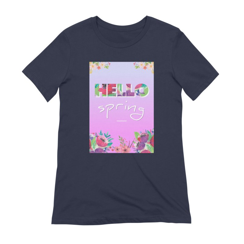 Hello Spring Women's Extra Soft T-Shirt by ALMA VISUAL's Artist Shop