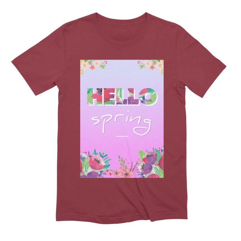 Hello Spring Men's Extra Soft T-Shirt by ALMA VISUAL's Artist Shop