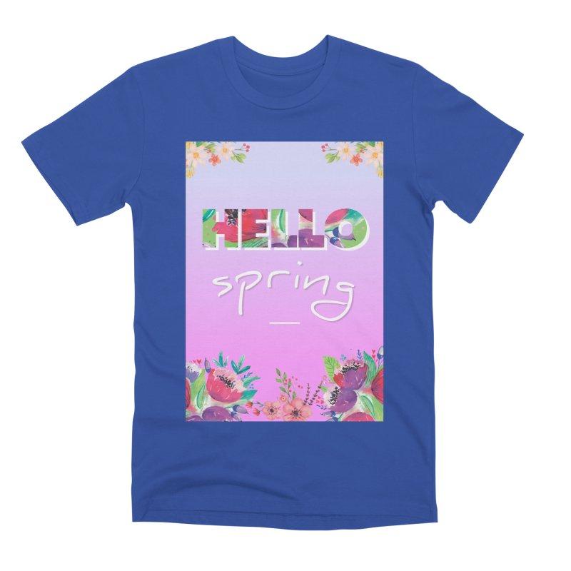 Hello Spring Men's Premium T-Shirt by ALMA VISUAL's Artist Shop