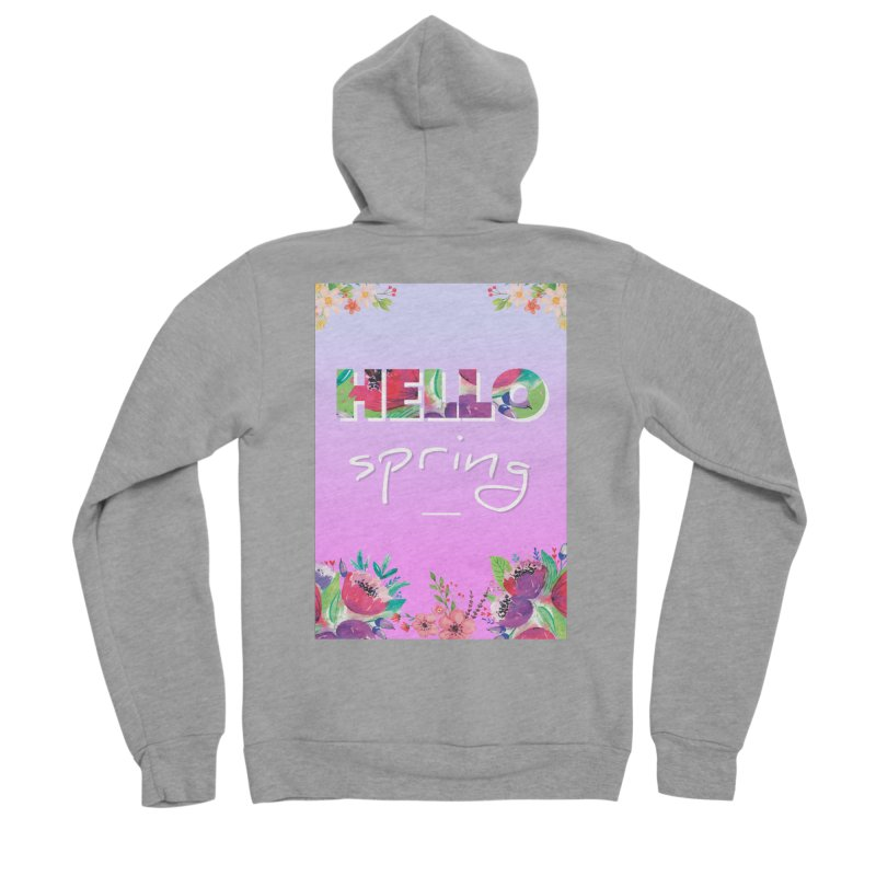 Hello Spring Women's Sponge Fleece Zip-Up Hoody by ALMA VISUAL's Artist Shop