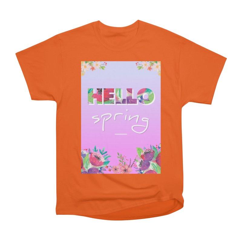 Hello Spring Women's Heavyweight Unisex T-Shirt by ALMA VISUAL's Artist Shop