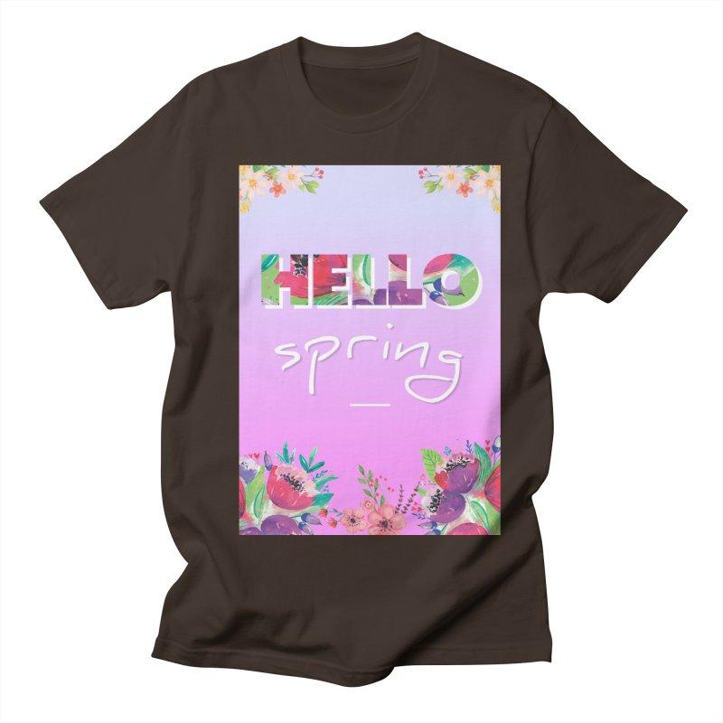 Hello Spring Men's Regular T-Shirt by ALMA VISUAL's Artist Shop