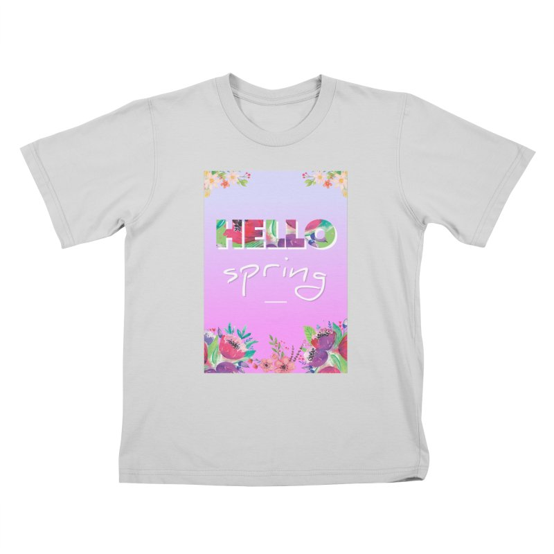 Hello Spring Kids T-Shirt by ALMA VISUAL's Artist Shop