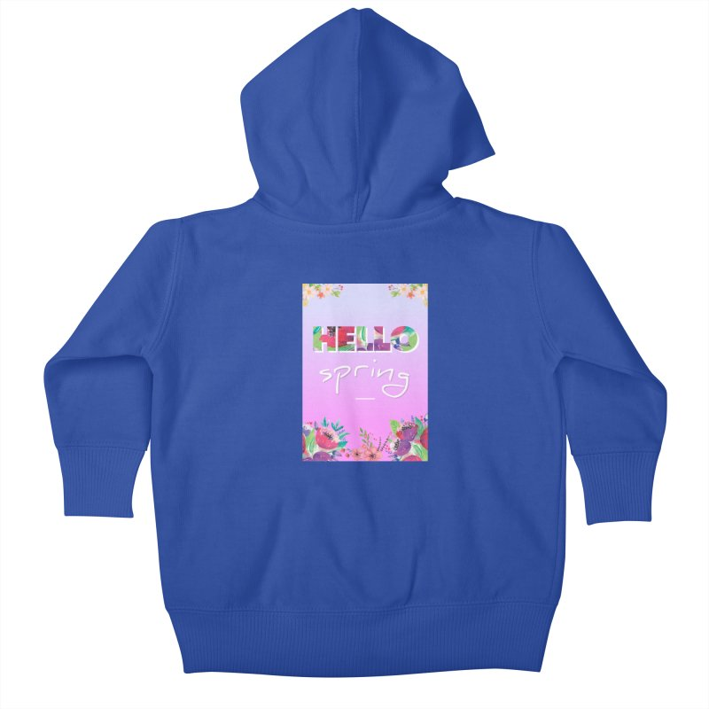 Hello Spring Kids Baby Zip-Up Hoody by ALMA VISUAL's Artist Shop