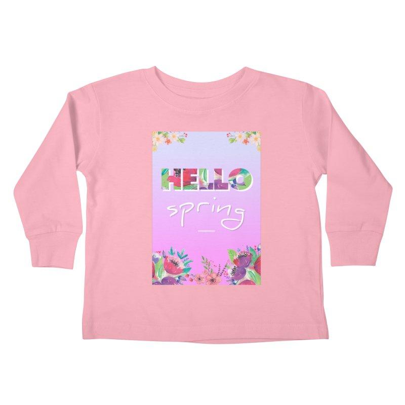 Hello Spring Kids Toddler Longsleeve T-Shirt by ALMA VISUAL's Artist Shop