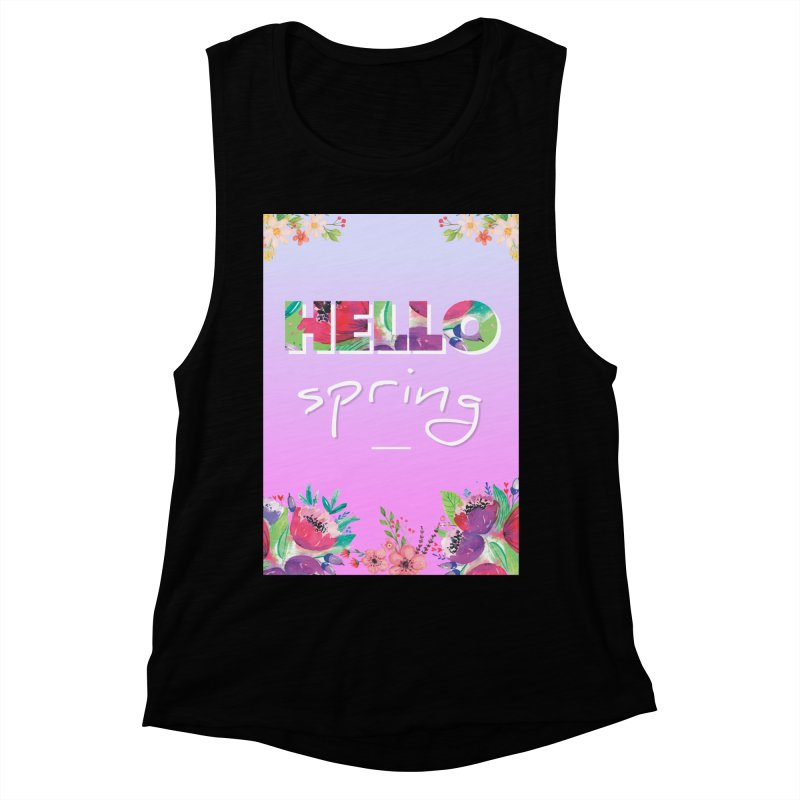 Hello Spring Women's Muscle Tank by ALMA VISUAL's Artist Shop
