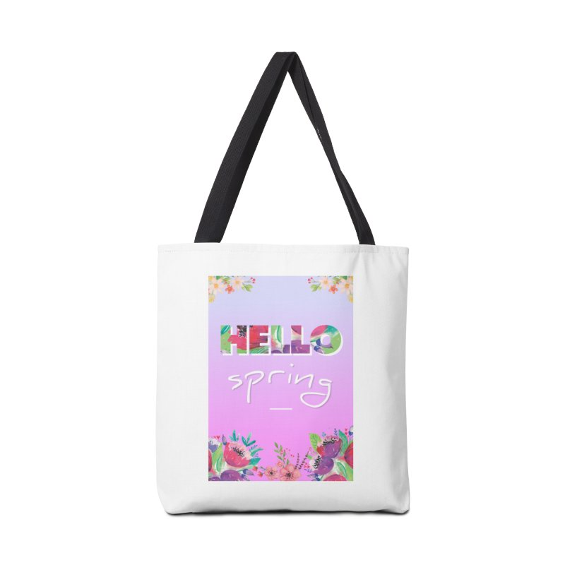 Hello Spring Accessories Tote Bag Bag by ALMA VISUAL's Artist Shop