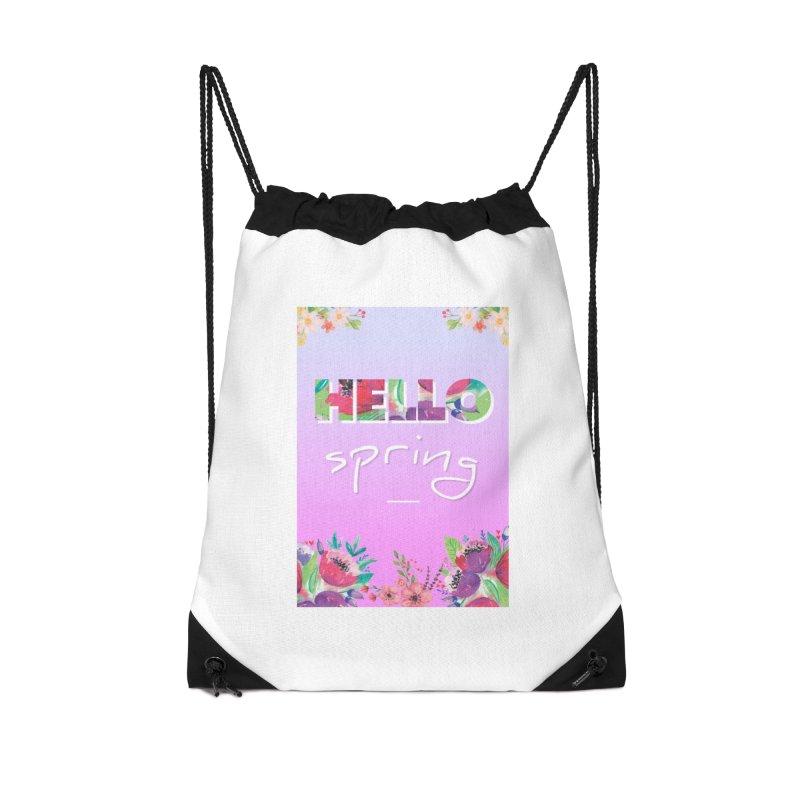 Hello Spring Accessories Drawstring Bag Bag by ALMA VISUAL's Artist Shop