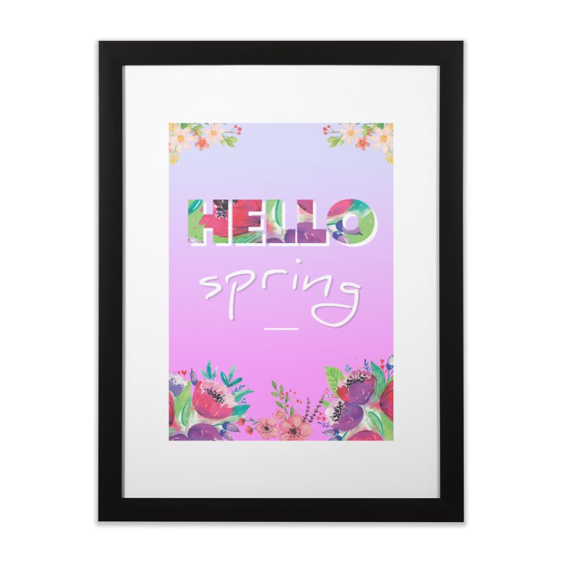 Hello Spring Home Framed Fine Art Print by ALMA VISUAL's Artist Shop