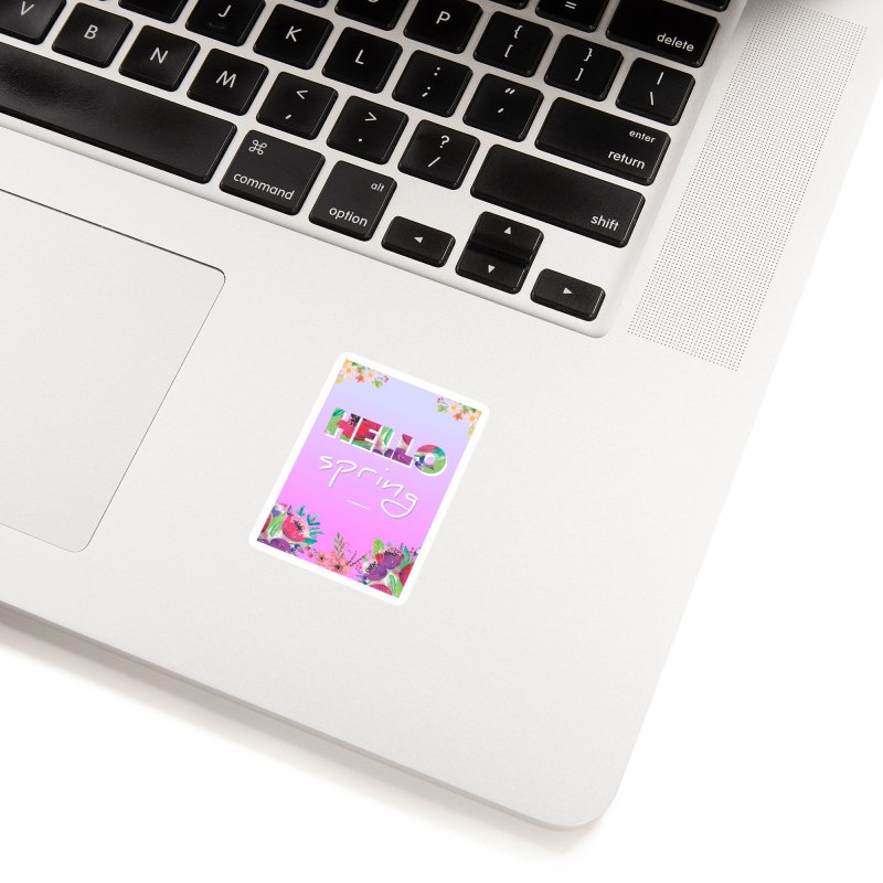 Hello Spring Accessories Sticker by ALMA VISUAL's Artist Shop