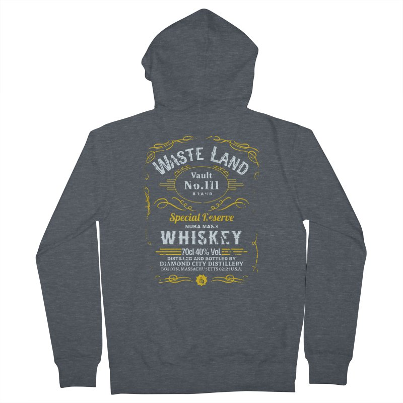 Wasteland Whiskey - distressed Men's Zip-Up Hoody by AMODesign's Artist Shop