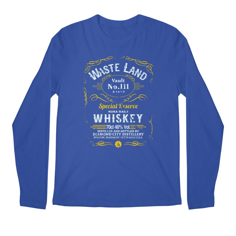 Wasteland Whiskey - distressed Men's Longsleeve T-Shirt by AMODesign's Artist Shop