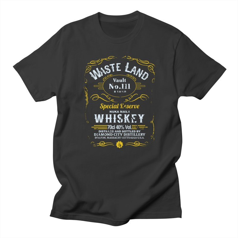 Wasteland Whiskey - distressed Men's T-Shirt by AMODesign's Artist Shop