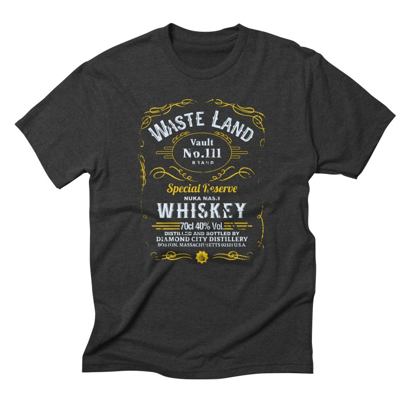 Wasteland Whiskey - distressed Men's Triblend T-Shirt by AMODesign's Artist Shop