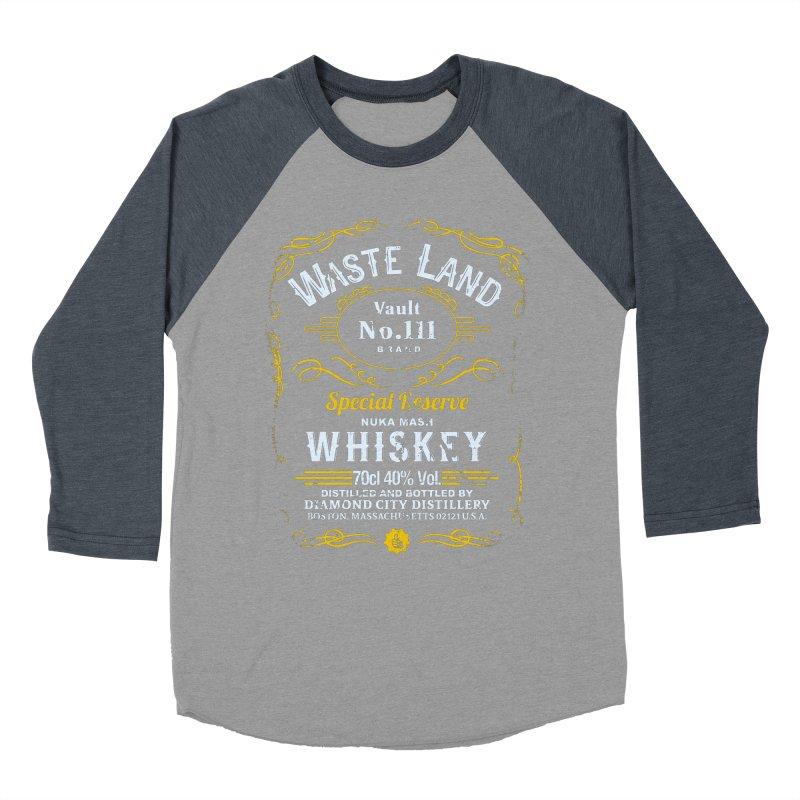 Wasteland Whiskey - distressed Men's Baseball Triblend T-Shirt by AMODesign's Artist Shop
