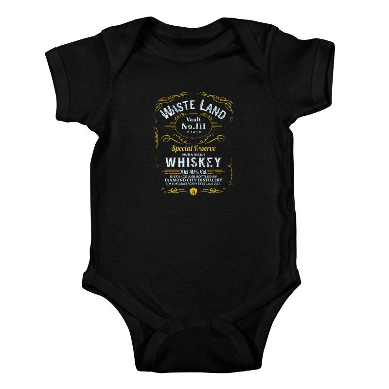 Wasteland Whiskey - distressed Kids Baby Bodysuit by AMODesign's Artist Shop