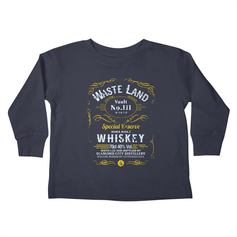 Wasteland Whiskey - distressed Kids Toddler Longsleeve T-Shirt by AMODesign's Artist Shop