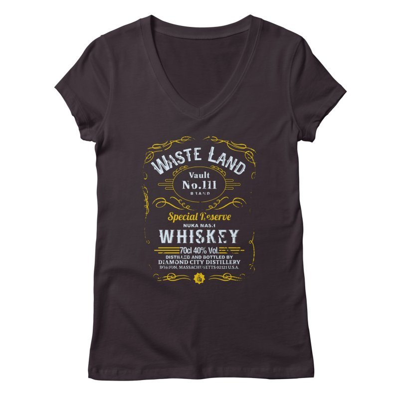 Wasteland Whiskey - distressed Women's V-Neck by AMODesign's Artist Shop
