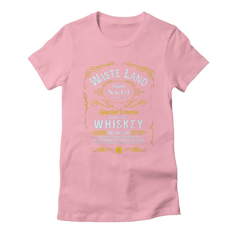 Wasteland Whiskey - distressed Women's Fitted T-Shirt by AMODesign's Artist Shop