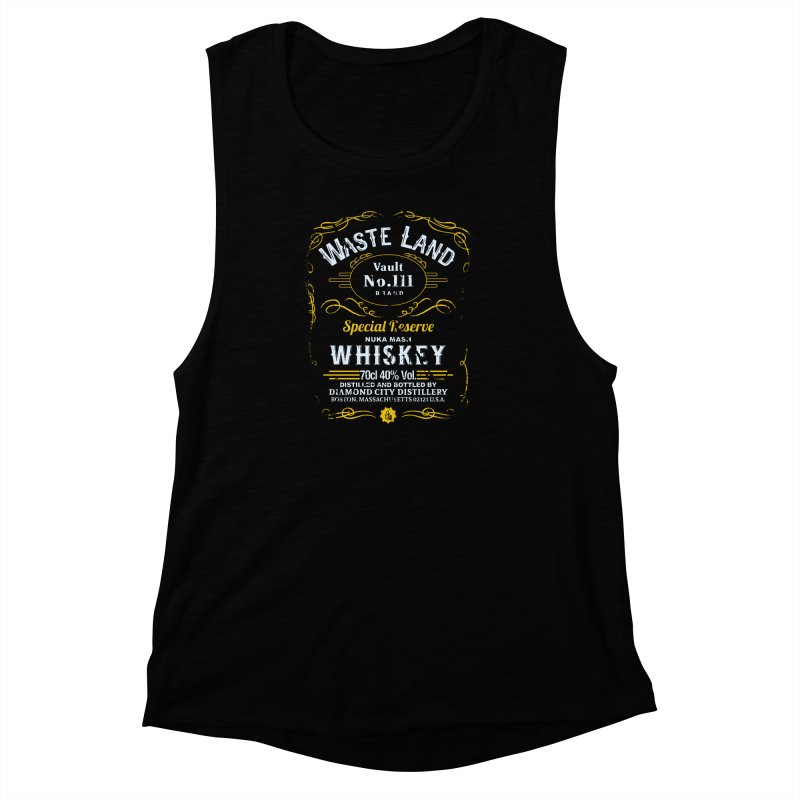 Wasteland Whiskey - distressed Women's Muscle Tank by AMODesign's Artist Shop