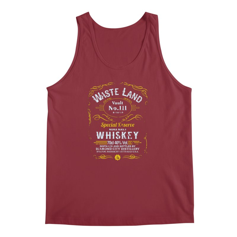 Wasteland Whiskey - distressed Men's Tank by AMODesign's Artist Shop