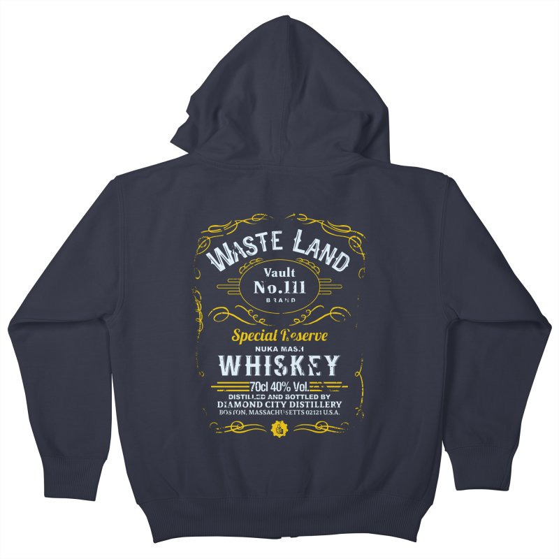 Wasteland Whiskey - distressed Kids Zip-Up Hoody by AMODesign's Artist Shop