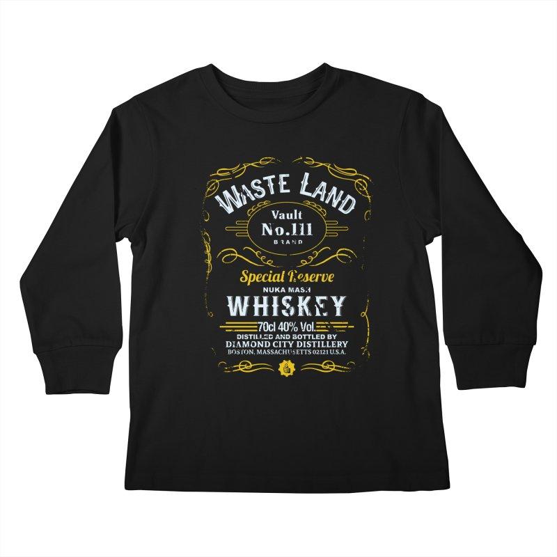 Wasteland Whiskey - distressed Kids Longsleeve T-Shirt by AMODesign's Artist Shop