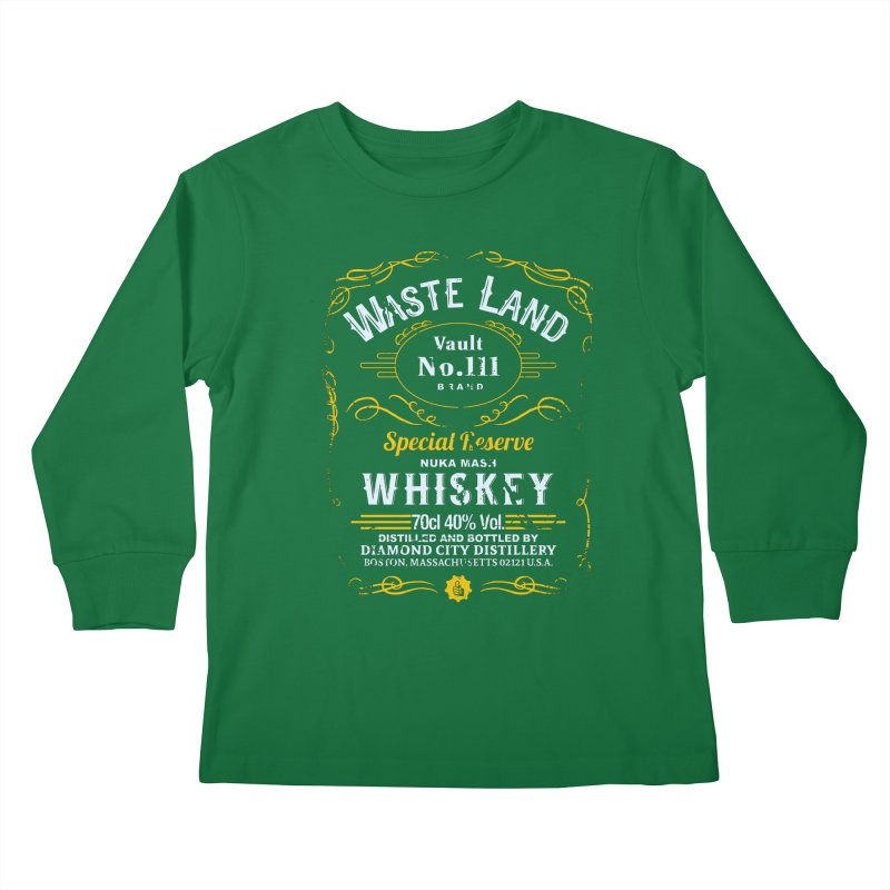 Wasteland Whiskey - distressed Kids Longsleeve T-Shirt by AMODesign's Artist Shop
